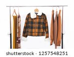 brown clothes with knitted ...   Shutterstock . vector #1257548251