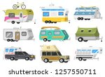 a set of trailers or family rv... | Shutterstock .eps vector #1257550711