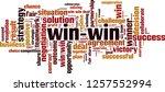 win win word cloud concept.... | Shutterstock .eps vector #1257552994