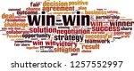 win win word cloud concept.... | Shutterstock .eps vector #1257552997