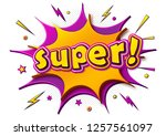 cool comic poster  lettering... | Shutterstock .eps vector #1257561097