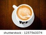 fancy delicious cappuccino... | Shutterstock . vector #1257563374