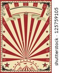 circus red vintage.  a circus... | Shutterstock .eps vector #125759105