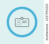 id card icon symbol. premium... | Shutterstock .eps vector #1257592231