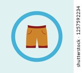 shorts icon symbol. premium... | Shutterstock .eps vector #1257592234