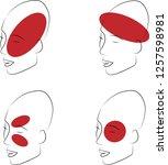 varieties of headaches. 4... | Shutterstock .eps vector #1257598981