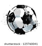 vector black grunge soccer ball ... | Shutterstock .eps vector #125760041