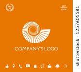 logo spiral  shell   a symbol... | Shutterstock .eps vector #1257605581