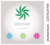 modern circle   swirl logo....   Shutterstock .eps vector #1257614704