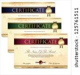 certificate template | Shutterstock .eps vector #125761511