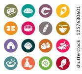 asian food icons | Shutterstock .eps vector #1257630601