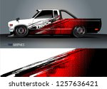truck wrap design. abstract... | Shutterstock .eps vector #1257636421