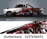 truck wrap design. abstract... | Shutterstock .eps vector #1257636451