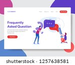 landing page template of... | Shutterstock .eps vector #1257638581