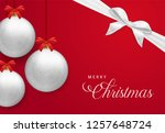merry christmas card  realistic ... | Shutterstock .eps vector #1257648724