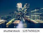 motion blur of city at night... | Shutterstock . vector #1257650224