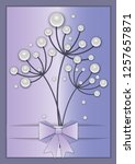 elegant greeting card with...   Shutterstock .eps vector #1257657871