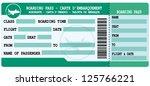 boarding pass. green and blue... | Shutterstock .eps vector #125766221