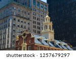 details old state house in... | Shutterstock . vector #1257679297