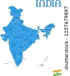 india map vector | Shutterstock .eps vector #1257679897
