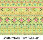 navajo american indian pattern... | Shutterstock .eps vector #1257681604