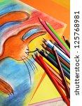 mix of multicolored vivid... | Shutterstock . vector #125768981