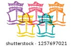 cute rainbow color set... | Shutterstock .eps vector #1257697021