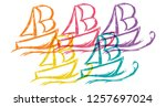 cute rainbow color set... | Shutterstock .eps vector #1257697024