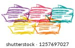 cute rainbow color set... | Shutterstock .eps vector #1257697027