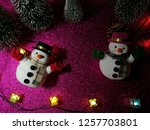 lovely snowman with christmas...   Shutterstock . vector #1257703801