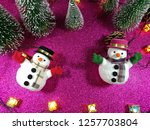lovely snowman with christmas...   Shutterstock . vector #1257703804