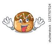 crazy takoyaki shape in balls a ... | Shutterstock .eps vector #1257707524