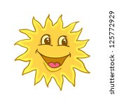 painted smile of sun  vector... | Shutterstock .eps vector #125772929