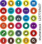 white solid icon set  diet... | Shutterstock .eps vector #1257735637