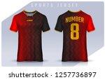 t shirt sport design template ...   Shutterstock .eps vector #1257736897