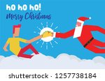 santa claus giving christmas... | Shutterstock .eps vector #1257738184