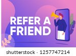 refer a friend vector... | Shutterstock .eps vector #1257747214