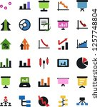 vector icon set   growth chart... | Shutterstock .eps vector #1257748804