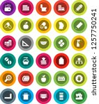 white solid icon set  toilet... | Shutterstock .eps vector #1257750241