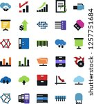 vector icon set   growth chart... | Shutterstock .eps vector #1257751684