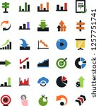vector icon set   growth chart... | Shutterstock .eps vector #1257751741