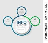 vector infographic template for ... | Shutterstock .eps vector #1257752437
