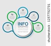 vector infographic template for ... | Shutterstock .eps vector #1257752731
