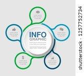 vector infographic template for ... | Shutterstock .eps vector #1257752734