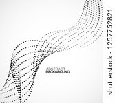 abstract halftone wave  dotted...   Shutterstock .eps vector #1257752821