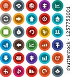 white solid icon set  graph... | Shutterstock .eps vector #1257753001
