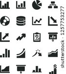 solid black vector icon set  ... | Shutterstock .eps vector #1257753277