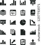 solid black vector icon set  ... | Shutterstock .eps vector #1257753571