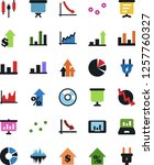 vector icon set   growth chart... | Shutterstock .eps vector #1257760327