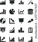 solid black vector icon set  ... | Shutterstock .eps vector #1257767437